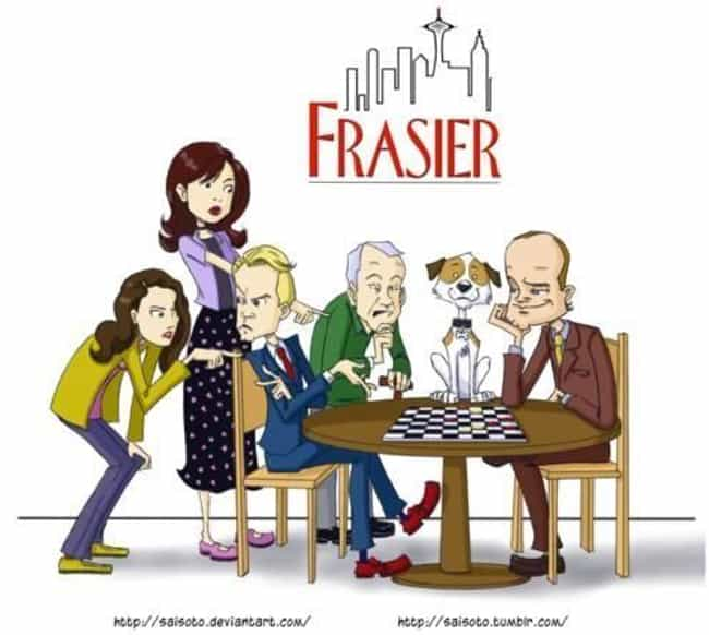 Frasier is listed (or ranked) 5 on the list What Your Favorite Sitcoms Would Look Like as Cartoons