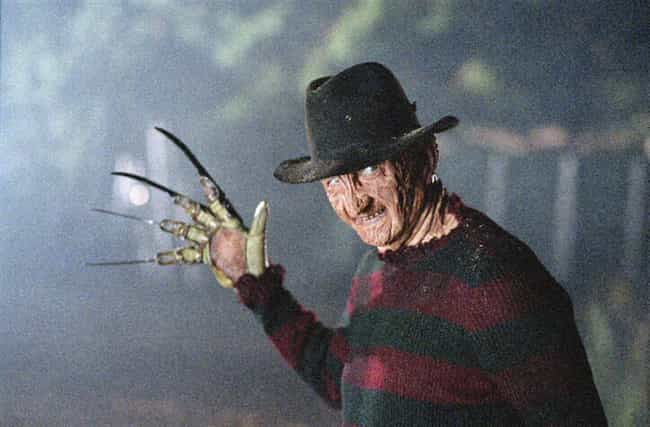 Freddy Krueger is listed (or ranked) 4 on the list Which Horror Movie Villain Would Win In An All-Out Deathmatch?