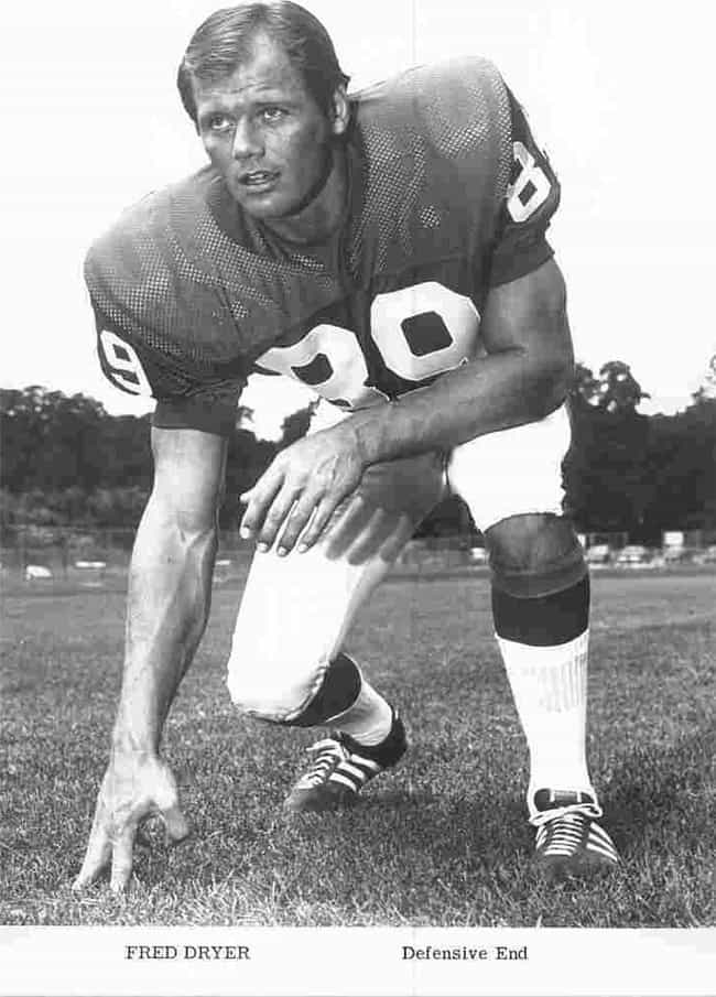 Fred Dryer is listed (or ranked) 3 on the list 50+ Professional Athletes Turned Actors