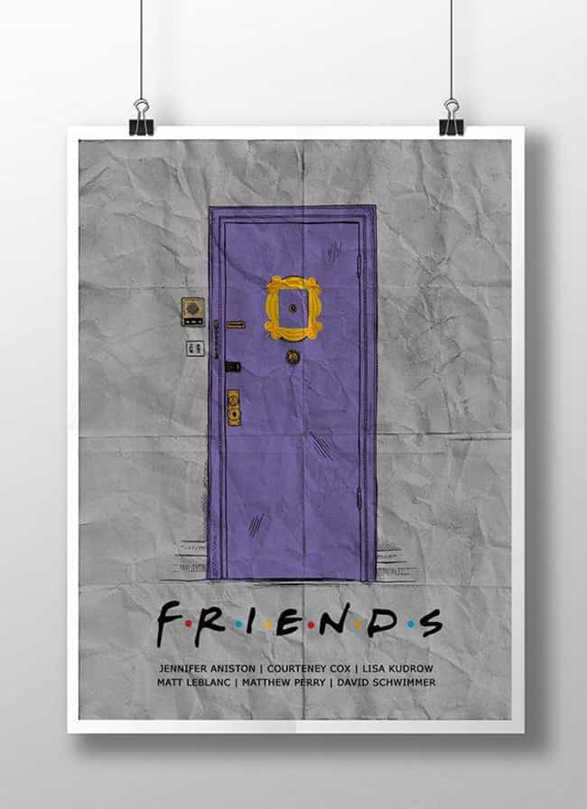 Friends is listed (or ranked) 4 on the list Awesome Minimalist TV Posters That Reveal Less Is More