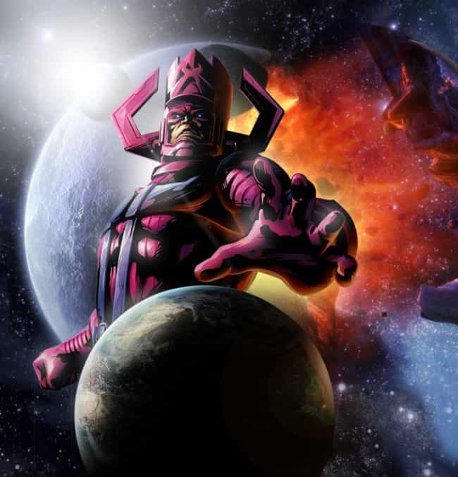 Galactus is listed (or ranked) 2 on the list The Most Destructive Comic Book Events