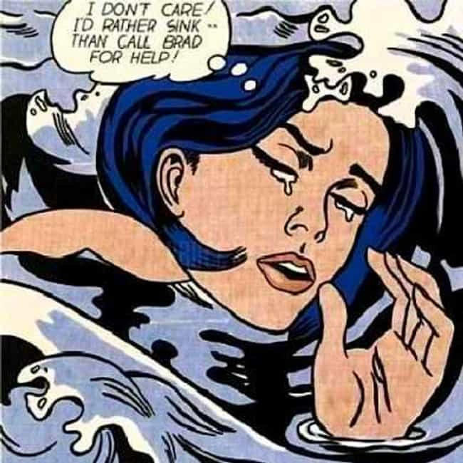Drowning Girl is listed (or ranked) 3 on the list Famous Roy Lichtenstein Paintings