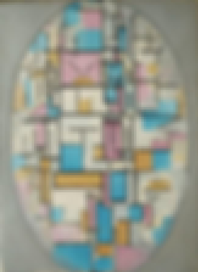 Composition in Oval with Color... is listed (or ranked) 4 on the list Famous Piet Mondrian Paintings