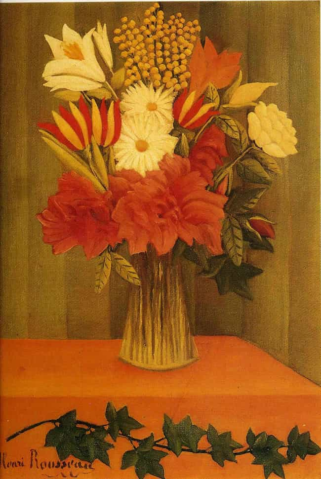 Flowers in a Vase is listed (or ranked) 4 on the list Famous Henri Rousseau Paintings
