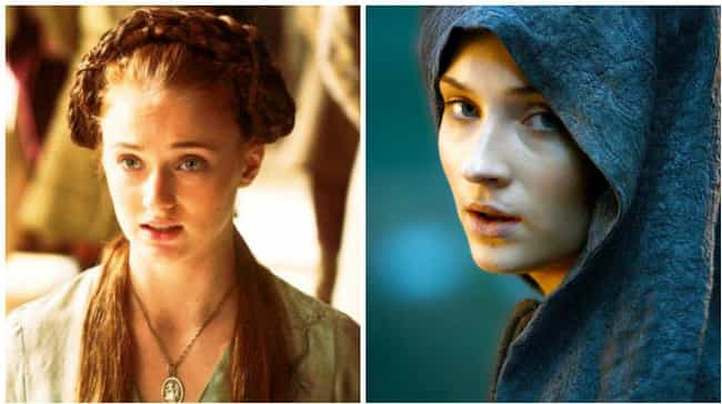 Sansa Stark is listed (or ranked) 1 on the list Comparing Characters: Season One vs. Season Six