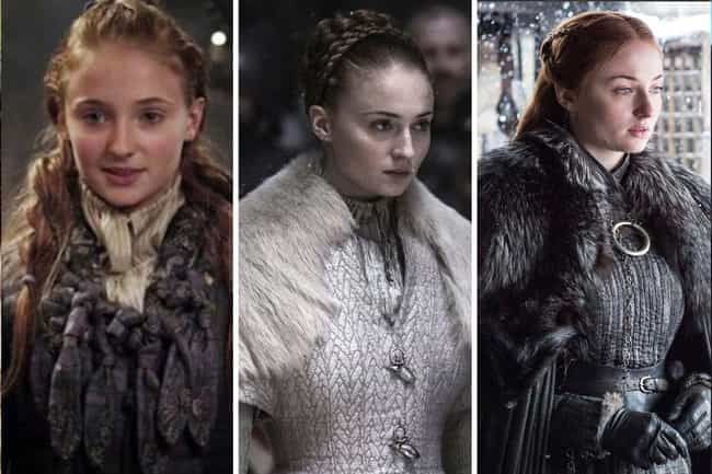 Sansa Stark is listed (or ranked) 4 on the list All The Main GoT Character Arcs, Ranked