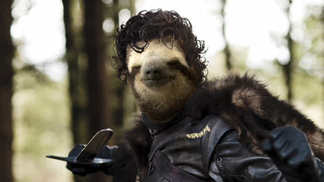 Robb Stark is listed (or ranked) 11 on the list 13 Game of Thrones Characters as Sloths