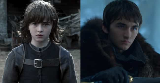 Bran Stark is listed (or ranked) 3 on the list Game Of Thrones Characters Then And Now