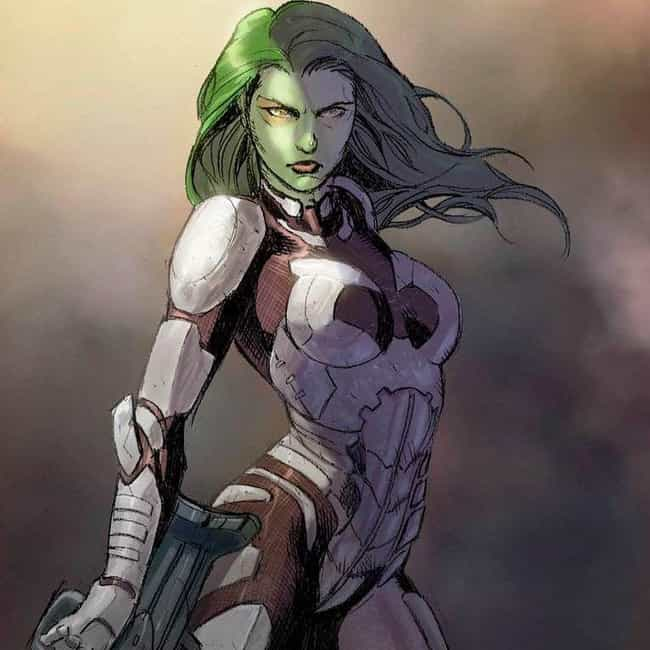 Gamora is listed (or ranked) 3 on the list The Best Comic Book Characters Who Have Yellow Eyes
