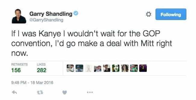 Garry Shandling is listed (or ranked) 4 on the list The Last Tweets of Deceased Celebrities