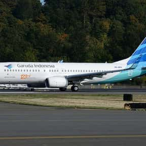 Garuda Indonesia is listed (or ranked) 10 on the list All Indonesian Airlines