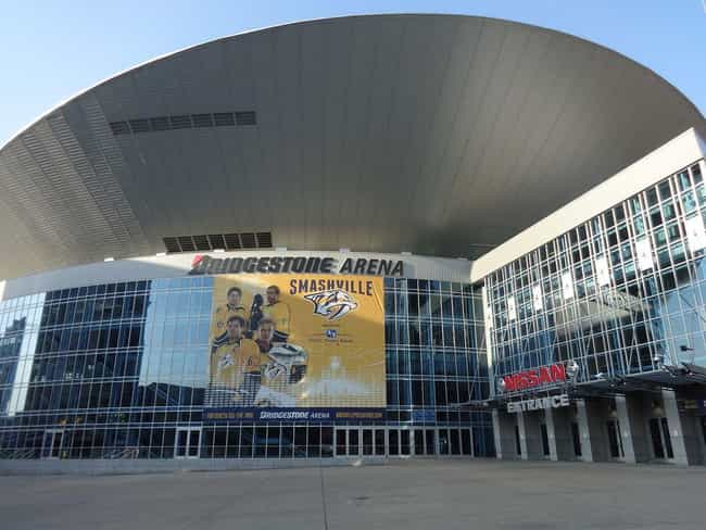 Bridgestone Arena is listed (or ranked) 4 on the list The Best NHL Arenas