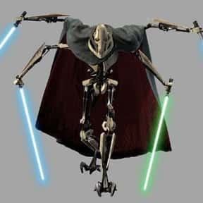 General Grievous is listed (or ranked) 18 on the list Vader to Binks: Best to Worst Star Wars Characters