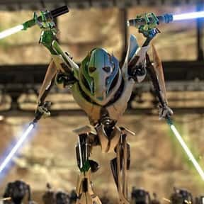 General Grievous is listed (or ranked) 4 on the list Which 'Star Wars' Character Is The Best Skateboarder?