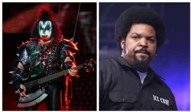 Gene Simmons Vs. Ice Cube is listed (or ranked) 2 on the list Inside The Biggest And Nastiest Rap Vs. Rock Beefs Ever