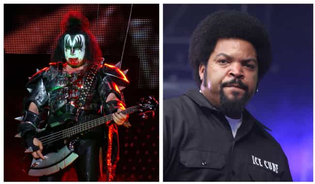 Gene Simmons is listed (or ranked) 2 on the list Inside The Biggest And Nastiest Rap Vs. Rock Beefs Ever