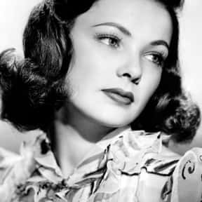 Gene Tierney is listed (or ranked) 21 on the list The Greatest American Actresses Of All Time
