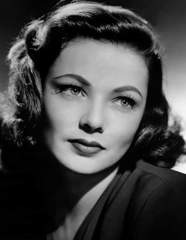 Gene Tierney is listed (or ranked) 1 on the list Famous People Born in 1920