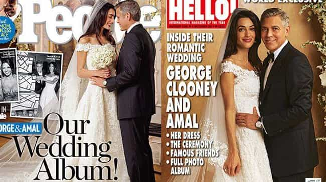George Clooney is listed (or ranked) 3 on the list Celebrity Pictures That Fetched a Ton of Money from Tabloids