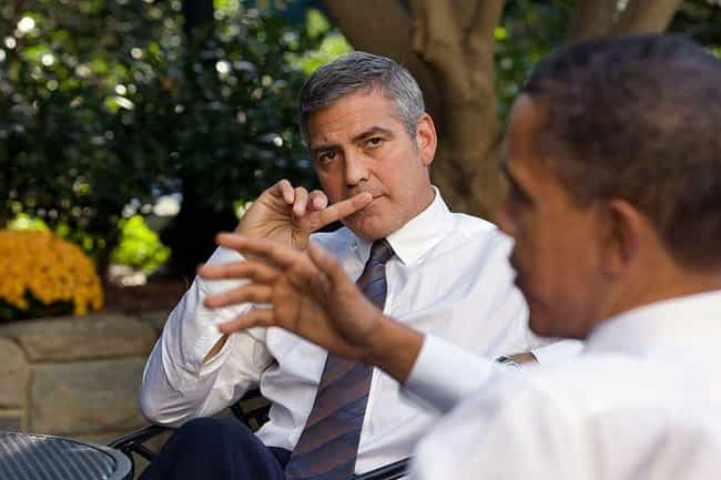 George Clooney is listed (or ranked) 3 on the list Famous Friends of Barack Obama