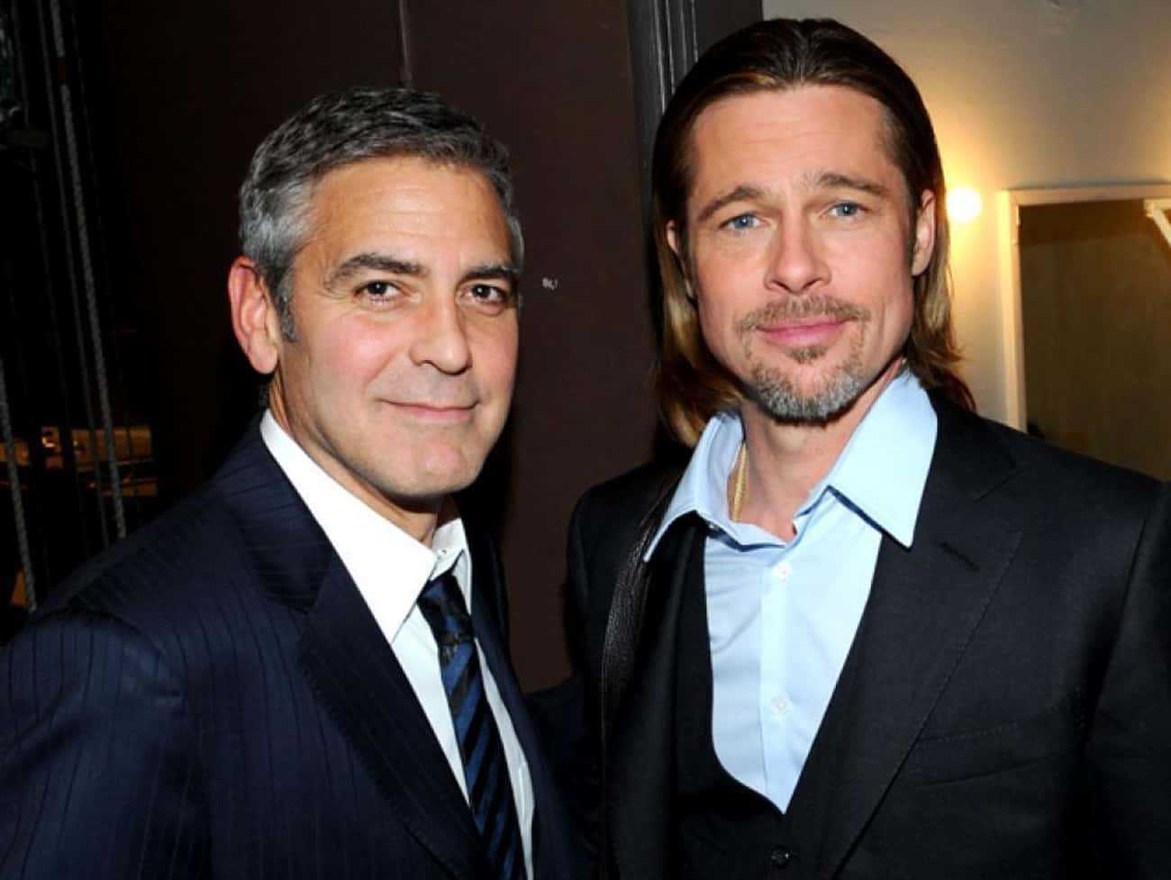 George Clooney is listed (or ranked) 1 on the list Famous Friends of Brad Pitt