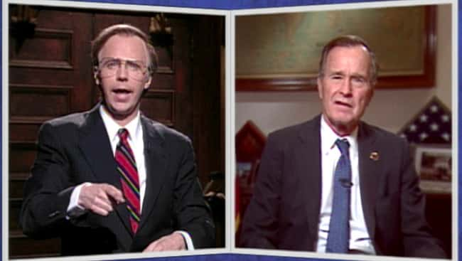 George H. W. Bush is listed (or ranked) 5 on the list Political Figures Share What They Really Thought Of SNL's Impressions Of Them