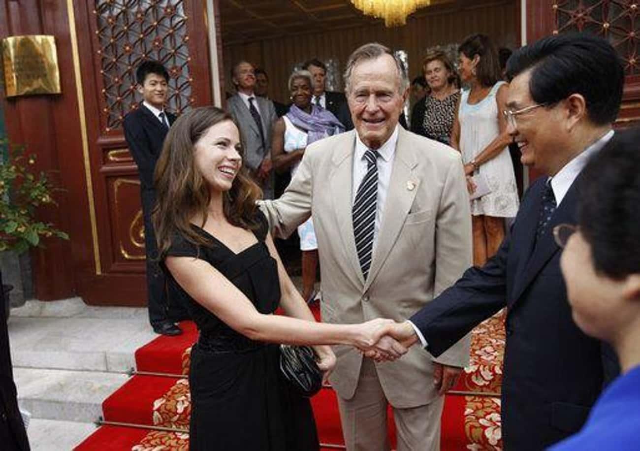 George H.W., Barbara, And George W. Bush: Yale University
