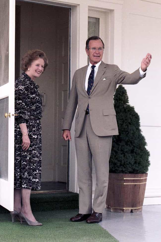 George H. W. Bush is listed (or ranked) 8 on the list All US Presidents By Height, From Tallest To Shortest