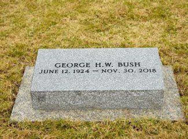 George H. W. Bush is listed (or ranked) 1 on the list Where Every US President Is Buried