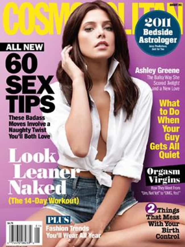 Ashley Greene is listed (or ranked) 4 on the list The Best Cosmopolitan Covers