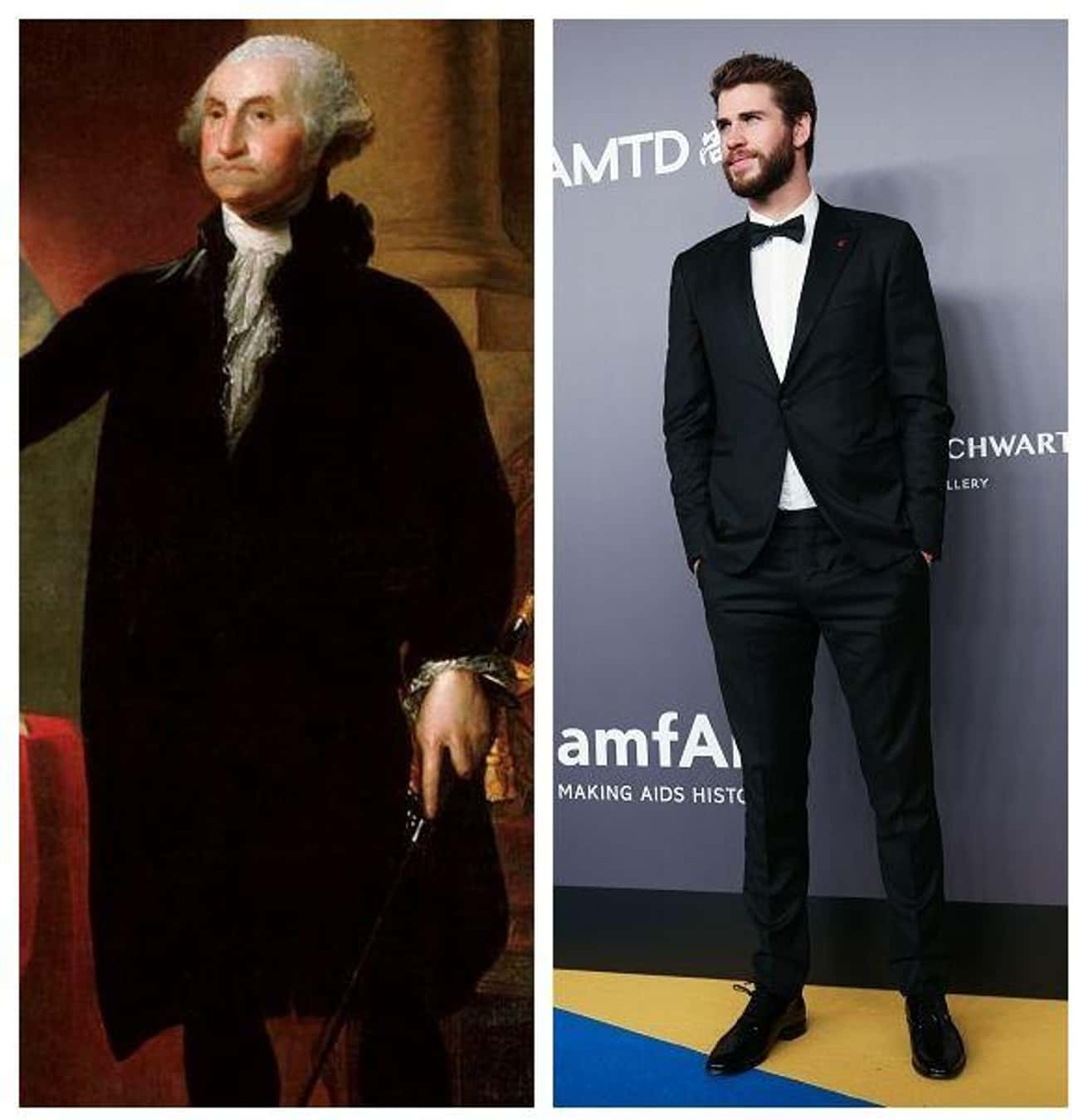 George Washington, 6'3&#34 is listed (or ranked) 4 on the list Here Are The Modern Height Counterparts To Some Of History's Most Important Figures