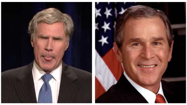 George W. Bush is listed (or ranked) 9 on the list Political Figures Share What They Really Thought Of SNL's Impressions Of Them