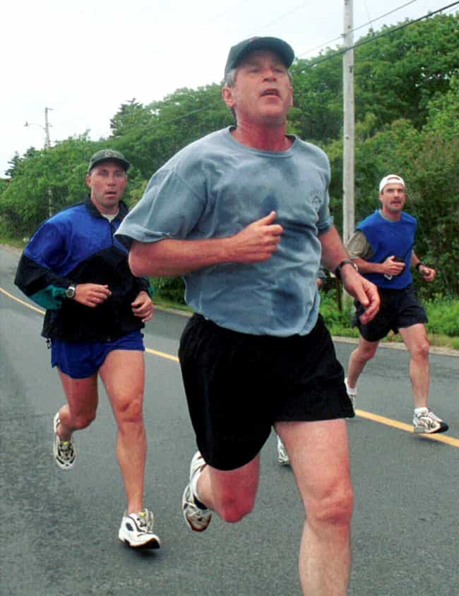 George Bush is listed (or ranked) 4 on the list Celebrities Who Are Runners