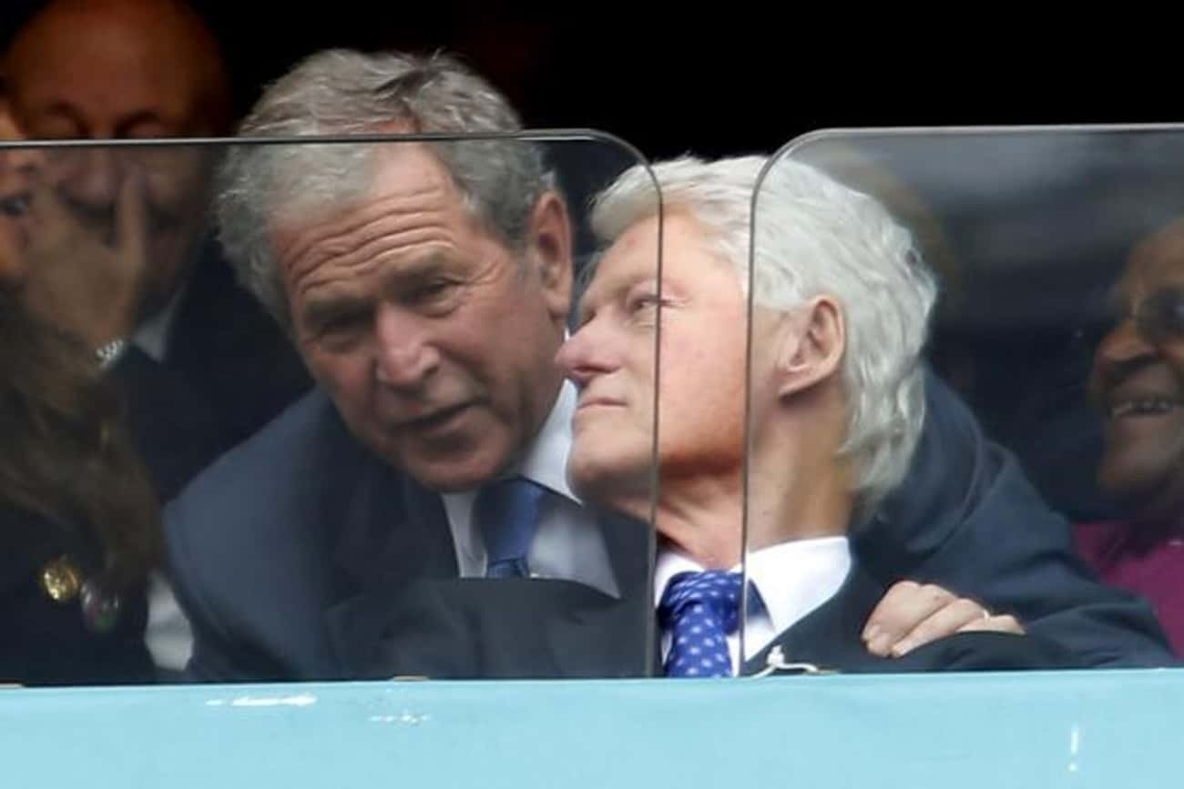 George W. Bush is listed (or ranked) 2 on the list Famous Friends of Bill Clinton