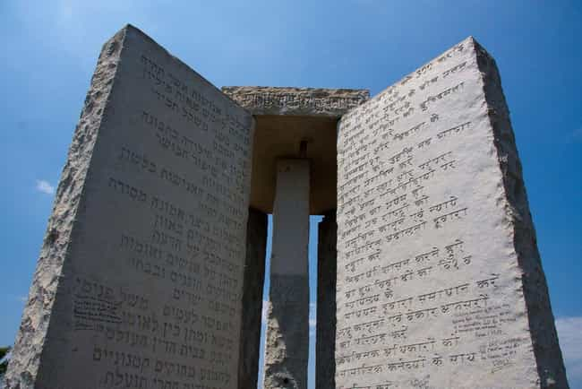 Georgia Guidestones is listed (or ranked) 3 on the list The Weirdest Monuments In The United States That You Can Visit