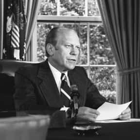 Gerald Ford is listed (or ranked) 13 on the list Famous University Of Michigan Alumni