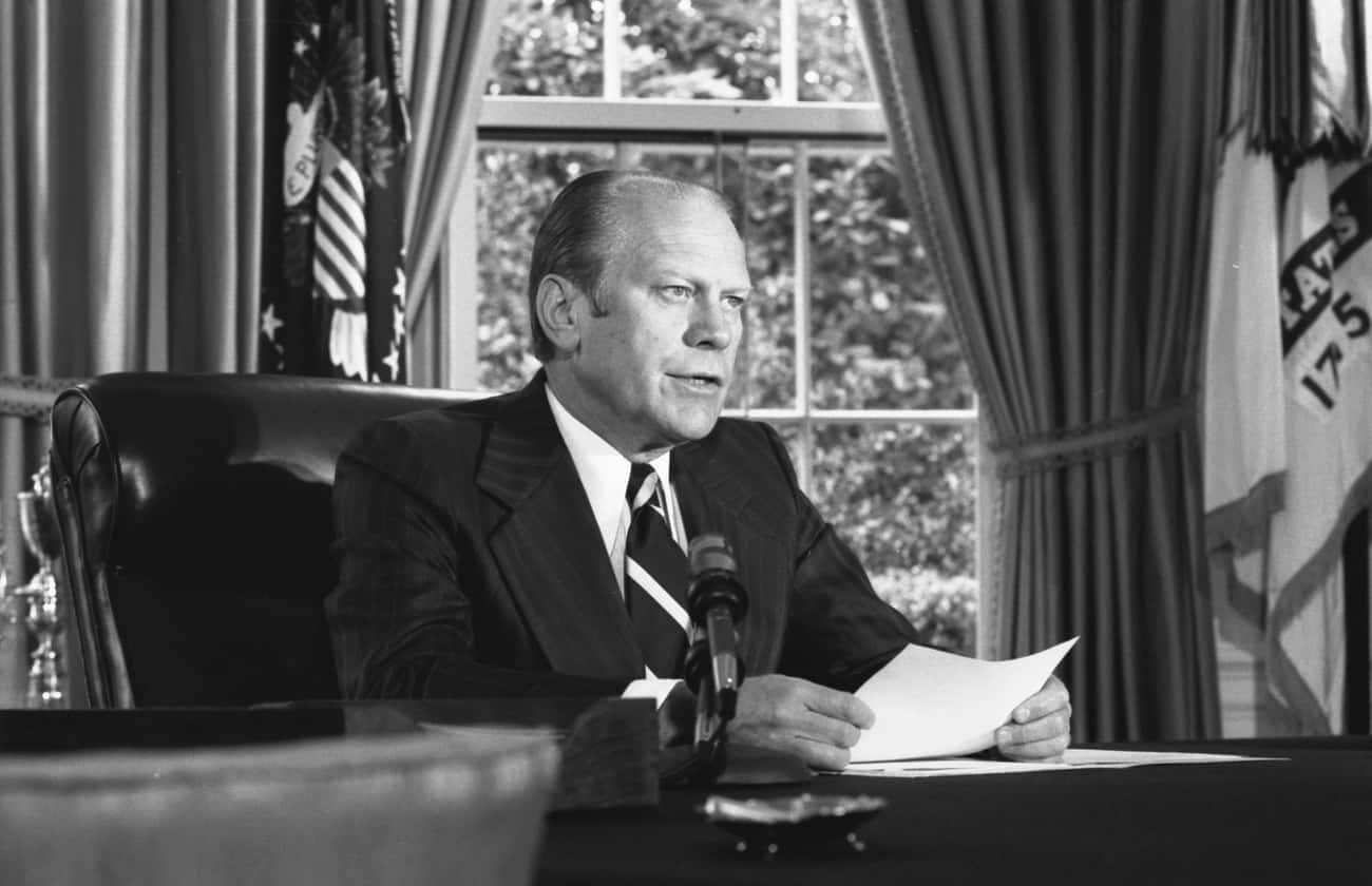 Gerald Ford is listed (or ranked) 2 on the list Famous People who Majored in Economics