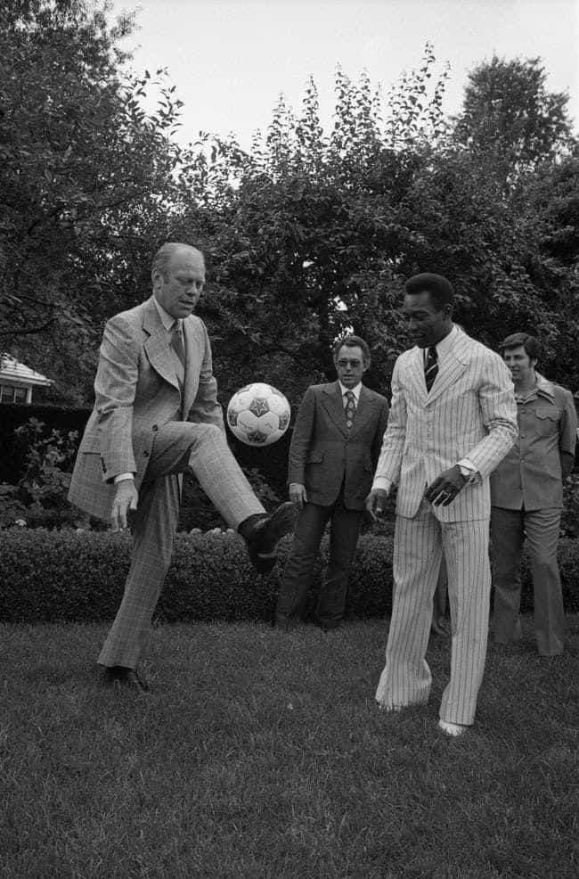 Gerald Ford is listed (or ranked) 1 on the list 22 Photos Of US Presidents Playing Games And Sports