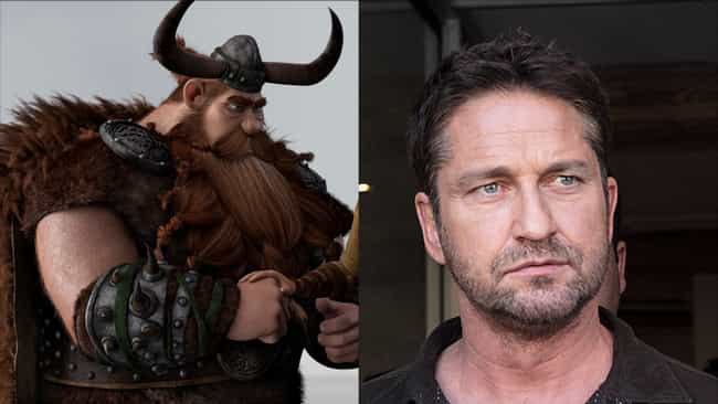 Gerard Butler is listed (or ranked) 3 on the list Here's Where You've Heard Everyone In 'How To Train Your Dragon' Before