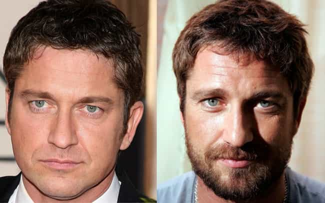 Gerard Butler is listed (or ranked) 4 on the list 34 Actors Who Actually Look Better With Facial Hair