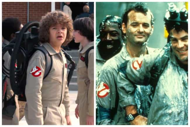 Ghostbusters is listed (or ranked) 3 on the list All The Movie Callbacks In 'Stranger Things'