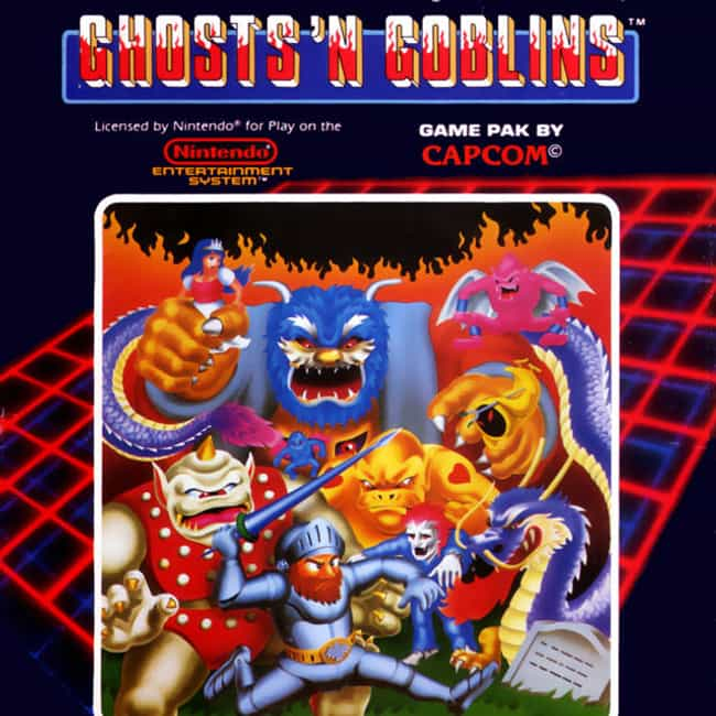 Ghosts'n Goblins is listed (or ranked) 3 on the list The Hardest Video Games To Complete