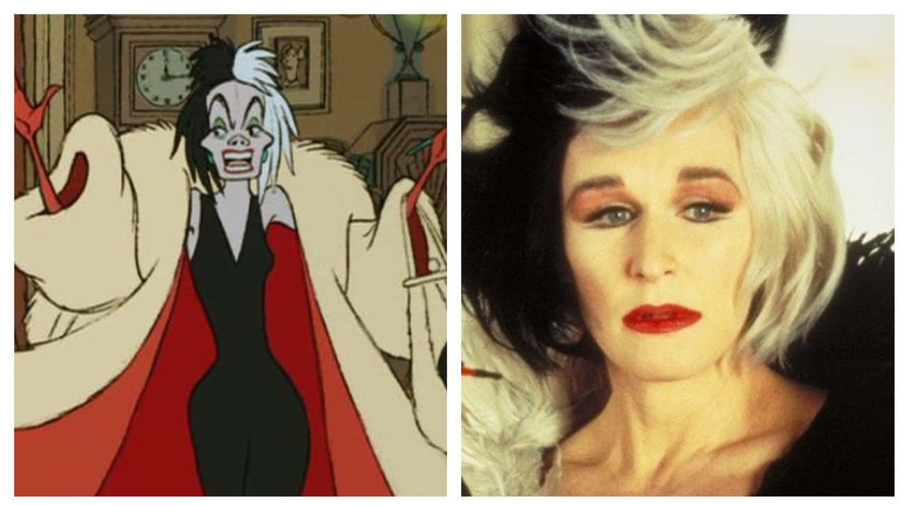 Glenn Close As Cruella de Vil is listed (or ranked) 1 on the list Actors Who Played Animated Disney Characters