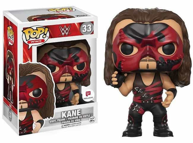 Kane is listed (or ranked) 3 on the list The Best WWE Funko Pop! Collectibles