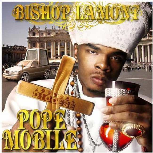 The Pope Mobile is listed (or ranked) 4 on the list The Most Ridiculous Album Covers In Hip Hop History