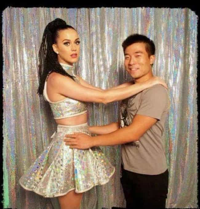 Katy Perry is listed (or ranked) 4 on the list Painfully Uncomfortable Celebrity Meet And Greet Photos
