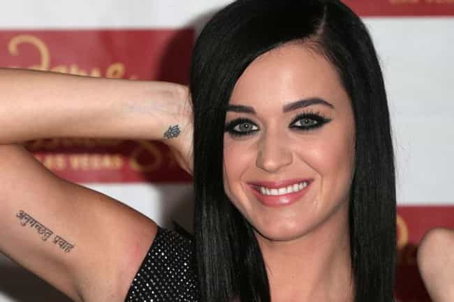 Katy Perry is listed (or ranked) 7 on the list The 25 Sexiest (Famous) Girls with Tattoos
