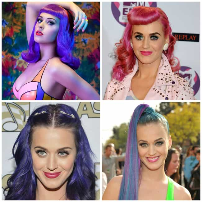Katy Perry is listed (or ranked) 1 on the list The Hottest Women with Brightly Colored Hair