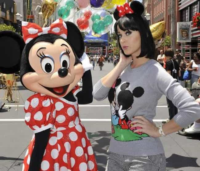 Katy Perry is listed (or ranked) 4 on the list 55+ Celebrities Enjoying Themselves at Disneyland