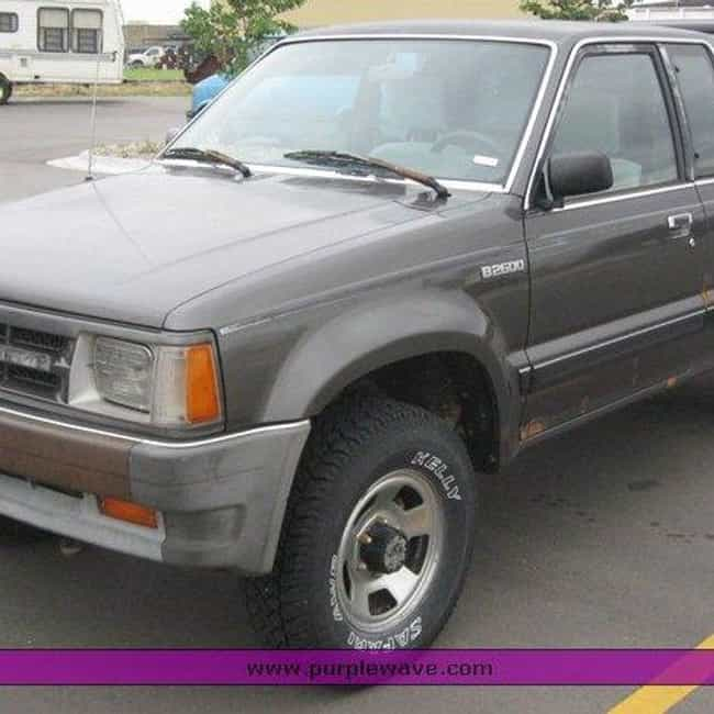 1988 Mazda B2600 Pickup truck is listed (or ranked) 4 on the list List of Popular Mazda Pickup trucks